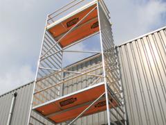 Aluminium rolsteiger 4,30 meter w/h