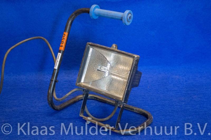Bouwlamp 24 volt 300 watt op vast statief